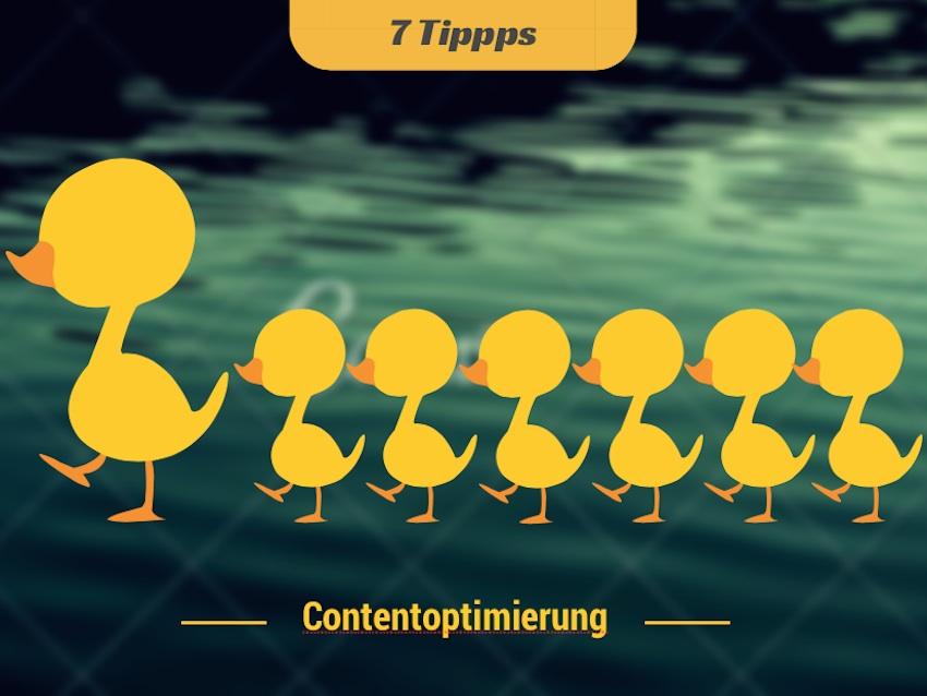 7 Tipps zur Contentoptimierung