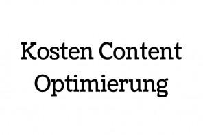 Kosten für Contentoptimierung