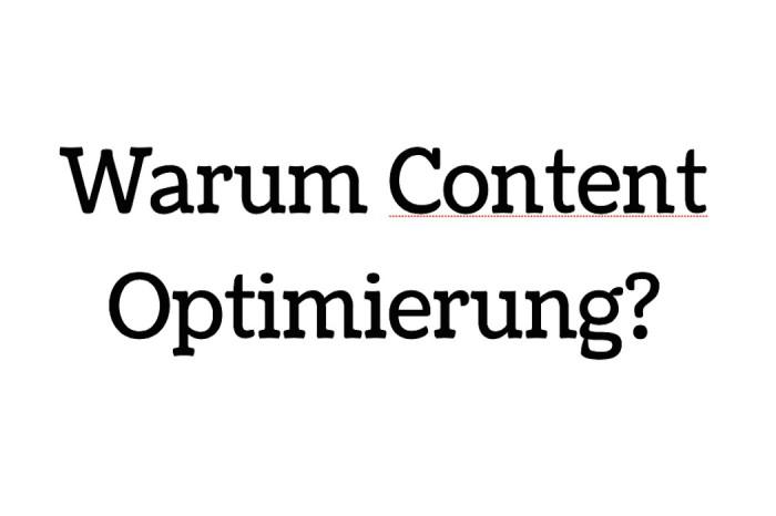 Warum-Content-Optimierung