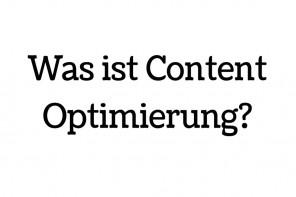 Formen der Contentoptimierung