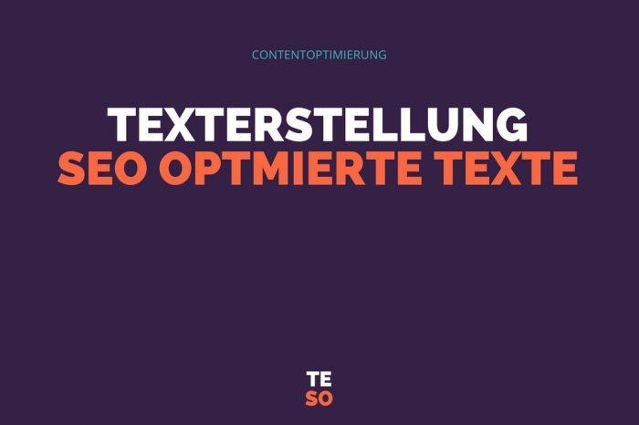 Texterstellung SEO optimierte Texte