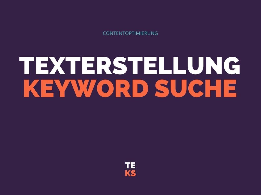 Texterstellung Keywordsuche