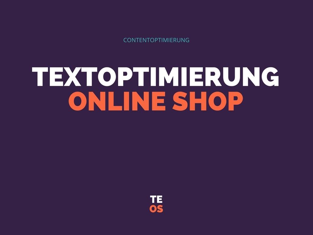 Textoptimierung Online Shop