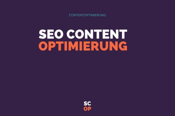SEO Content Optimierung