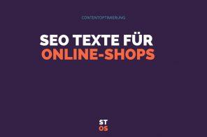 SEO Texte für Onlineshops – Shoptexte
