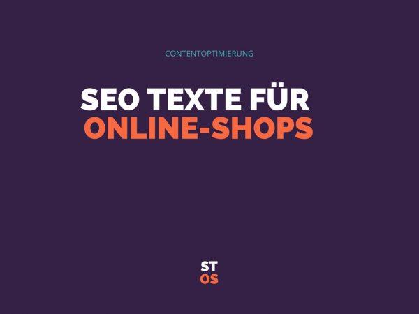 SEO Texte für Online Shops